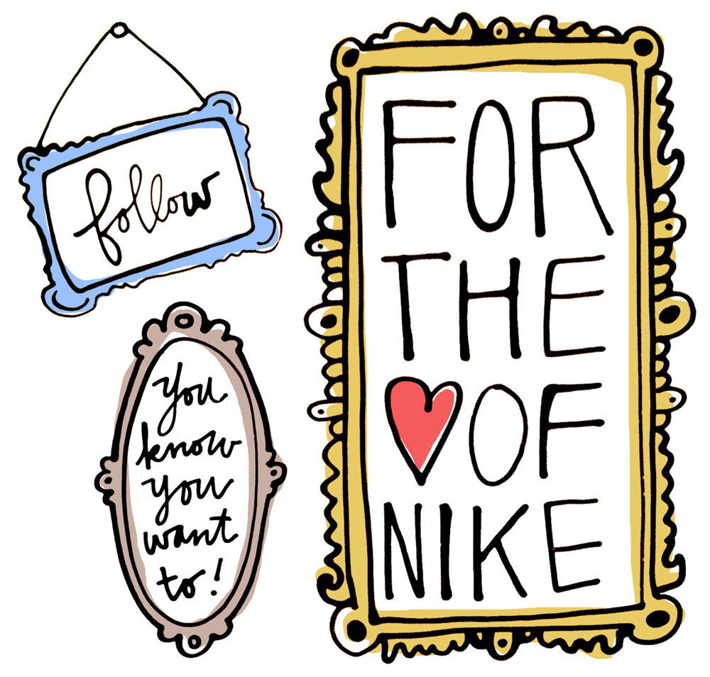 follow for the love of nike