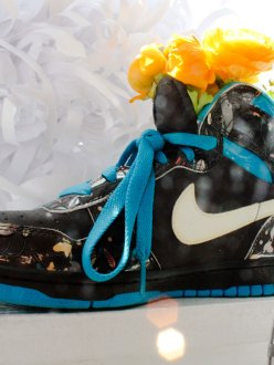 Nike with flowers