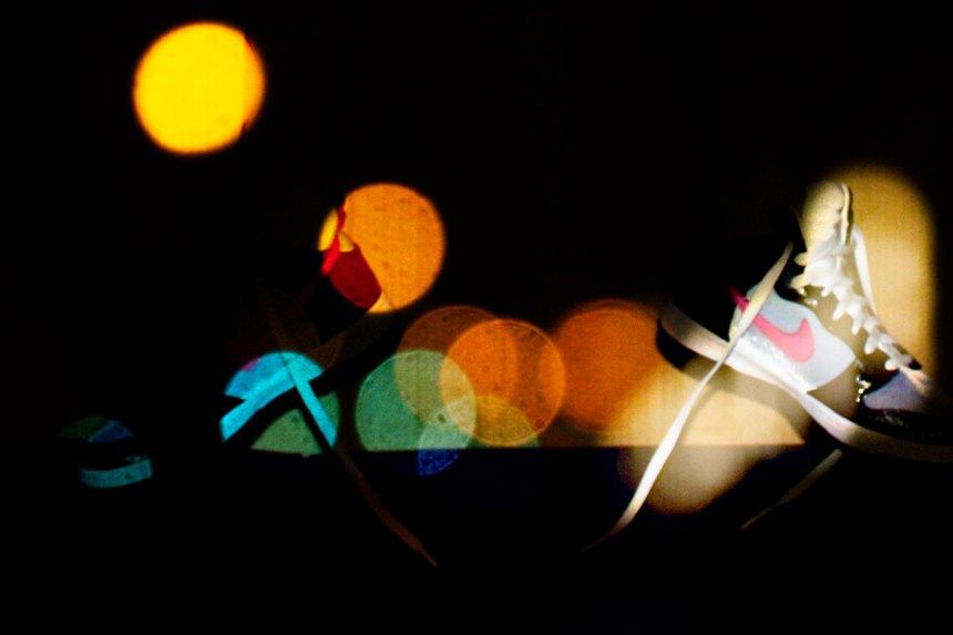 Nike in light at night