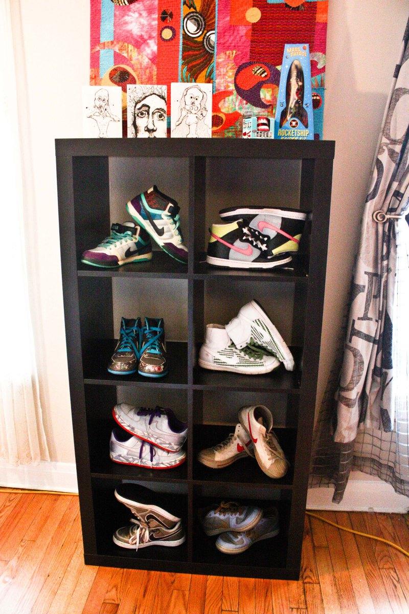 Nikes on display