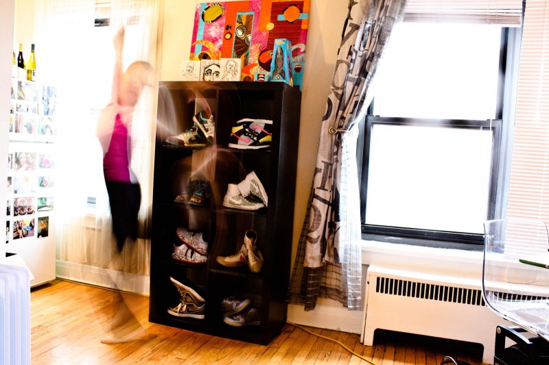 Nike rack in room