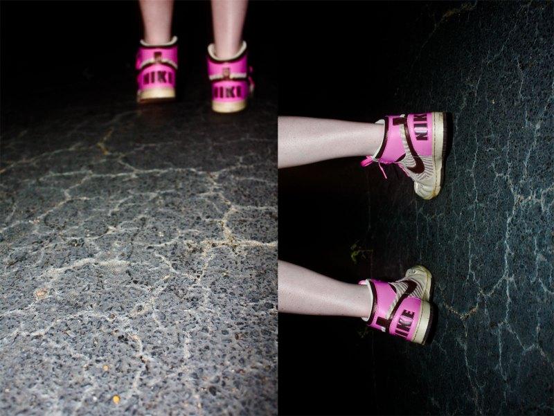 shoes on concrete
