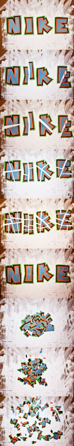 Nike in pieces