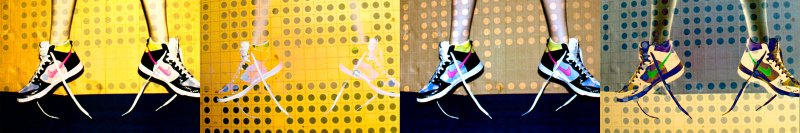 dots on Nikes