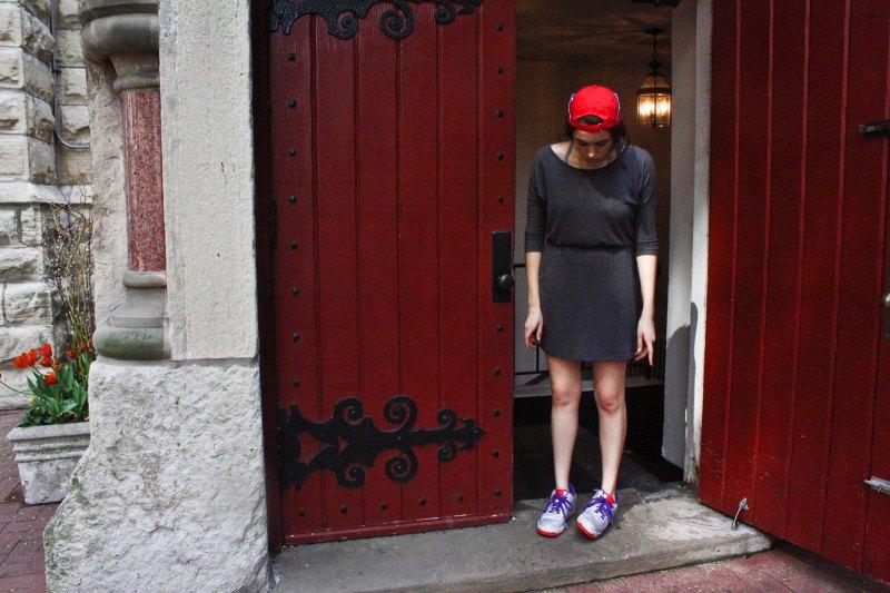 girl in church door