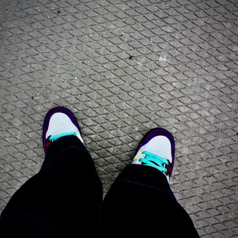 walking on sidewalk