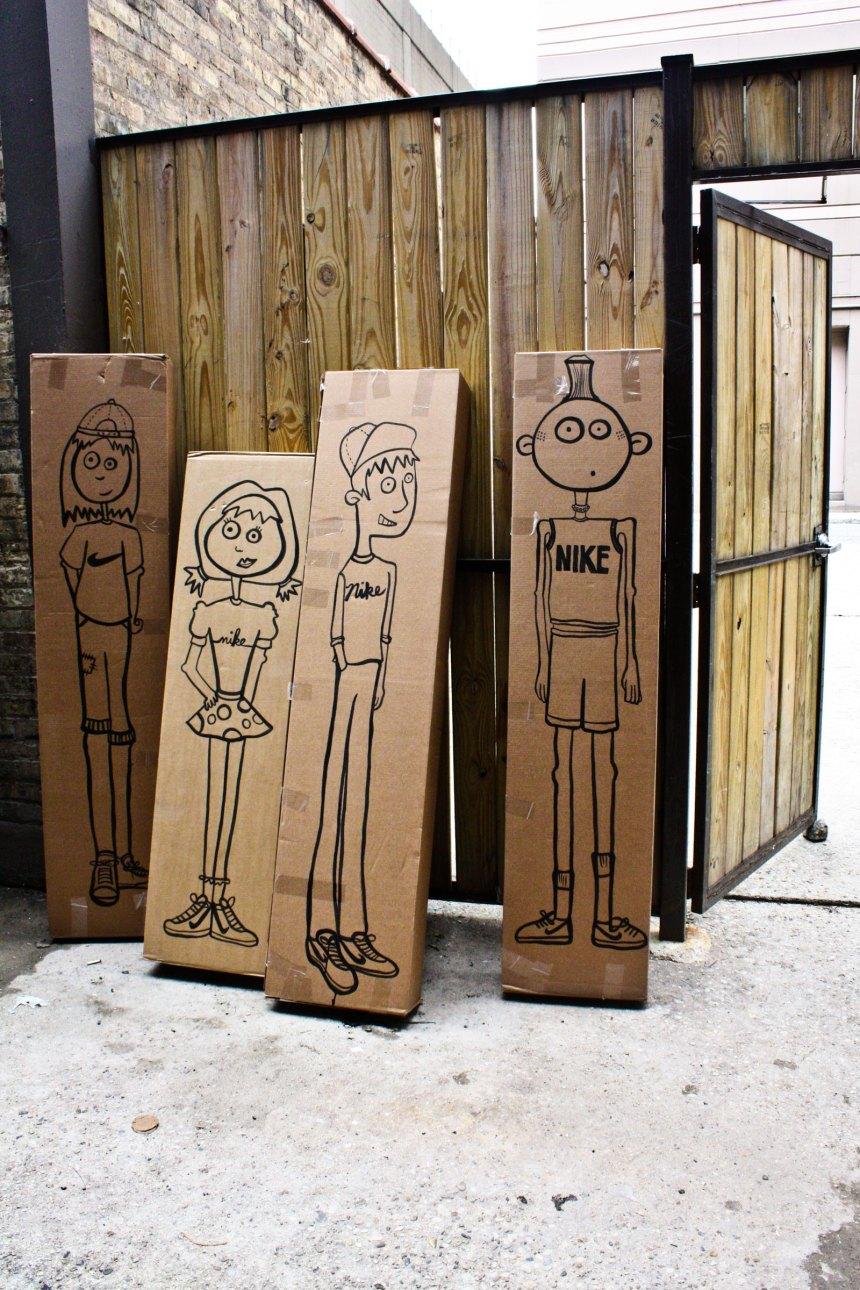 cardboard Nike box