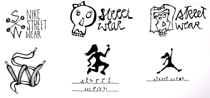 Nike logo sketches