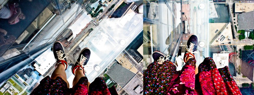 Nikes on the Sky Deck