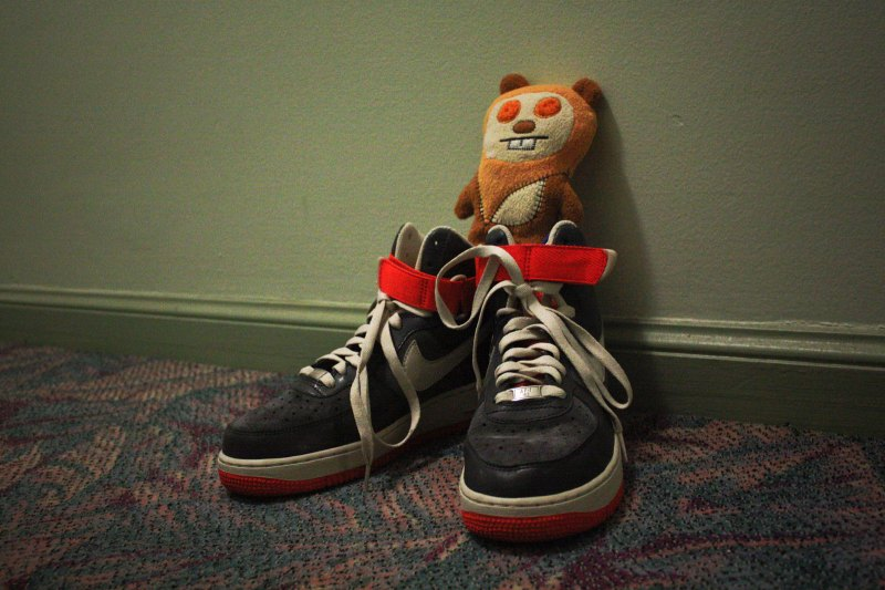sneakers and toys