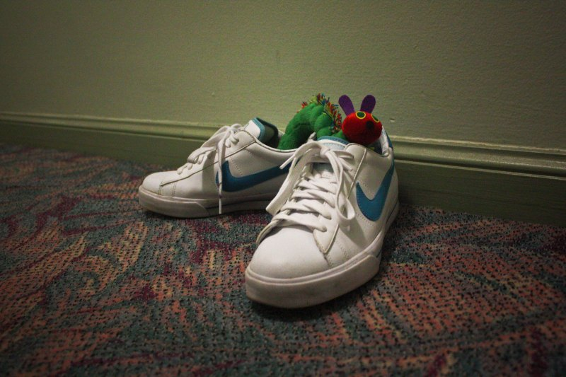 toys and sneakers