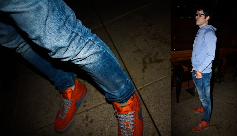 Nikes and a roof top bar