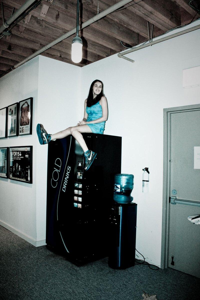 Nikes and coke machine