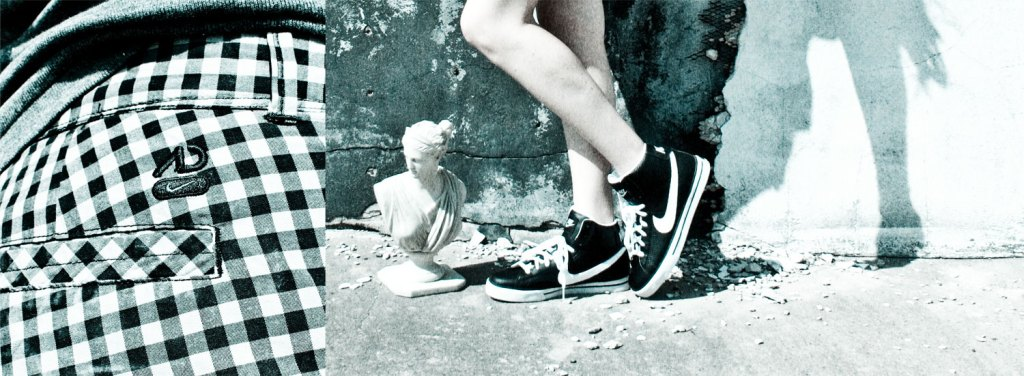 statues and Nikes