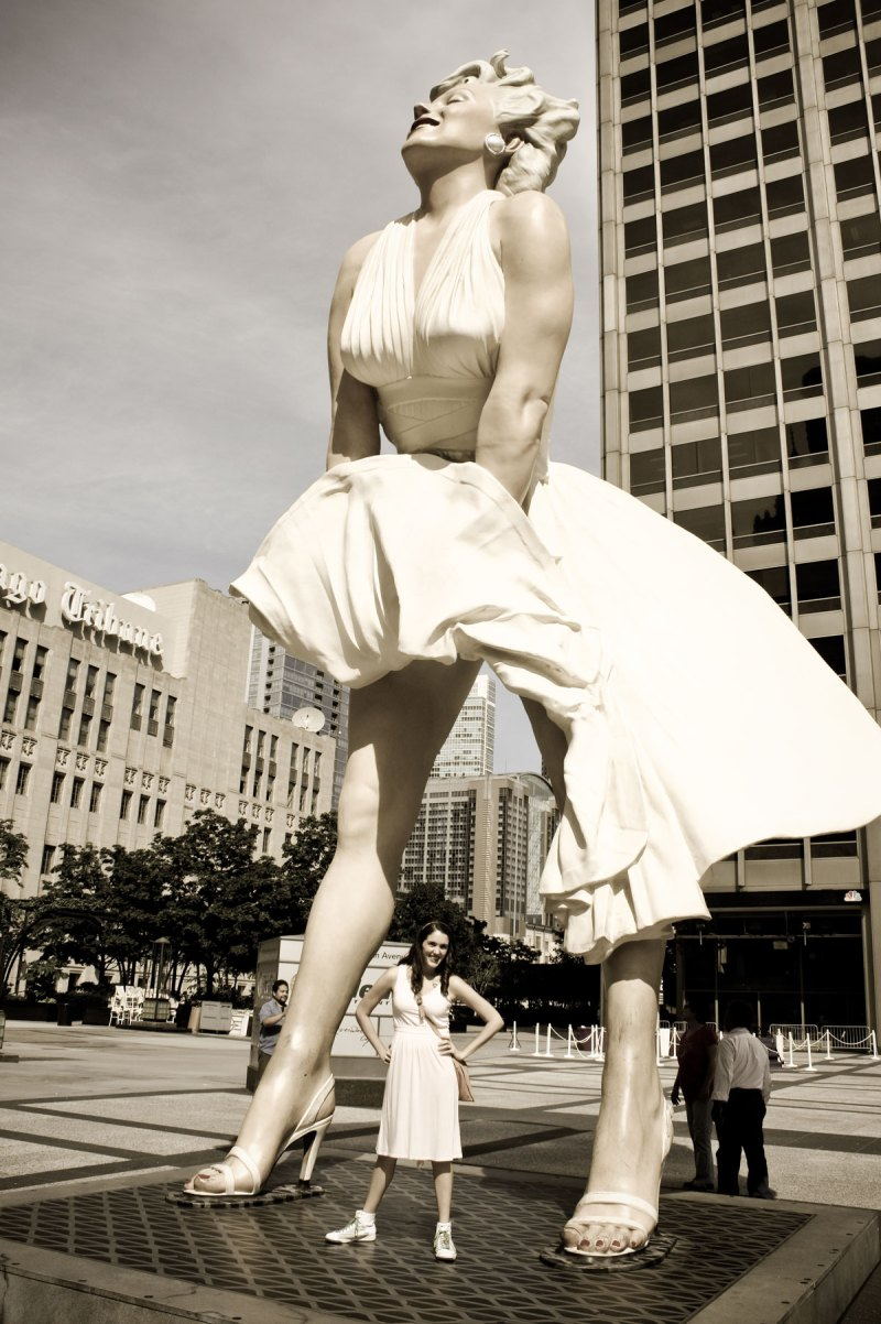 statues and art in Chicago, Marilyn Monroe
