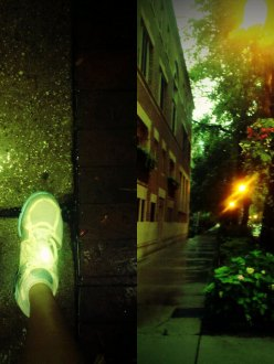 Chicago summer rain and sneakers
