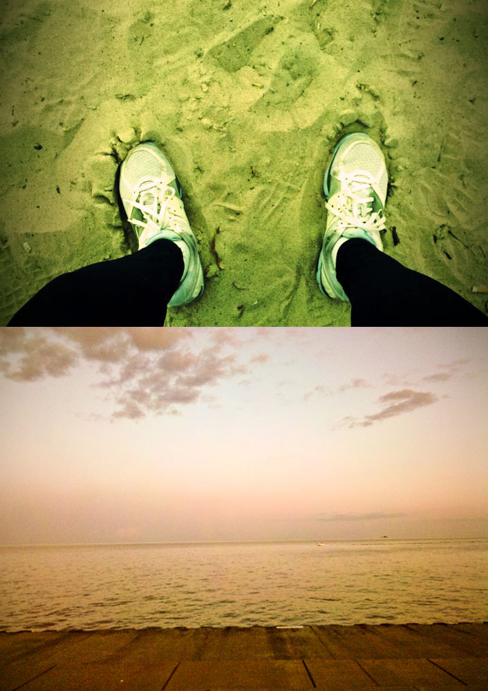Nikes in the sand