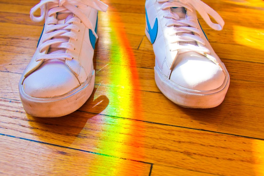 light from a prism