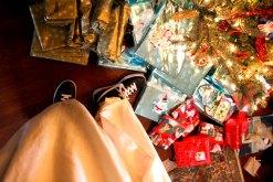 Nikes and a Christmas tree