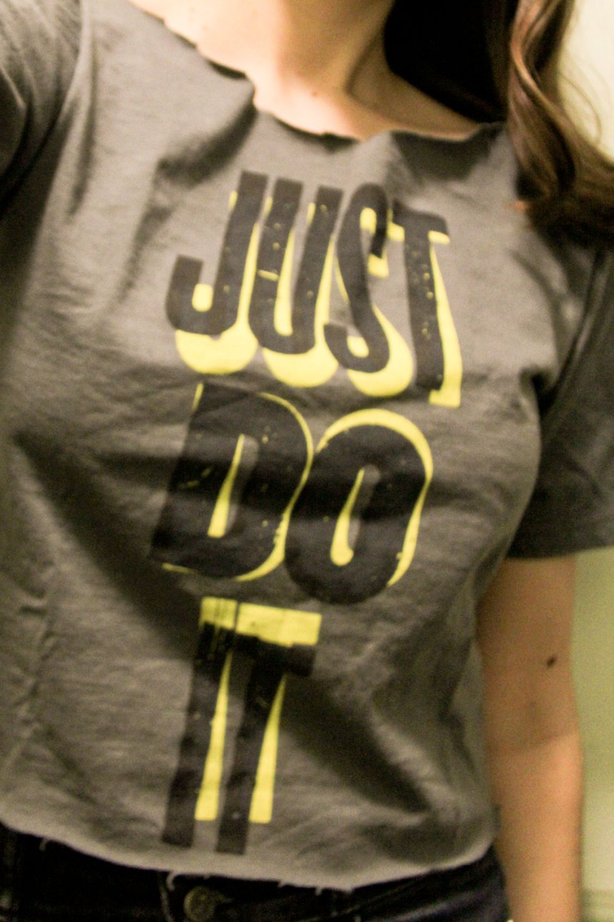 Nike, just do it tee