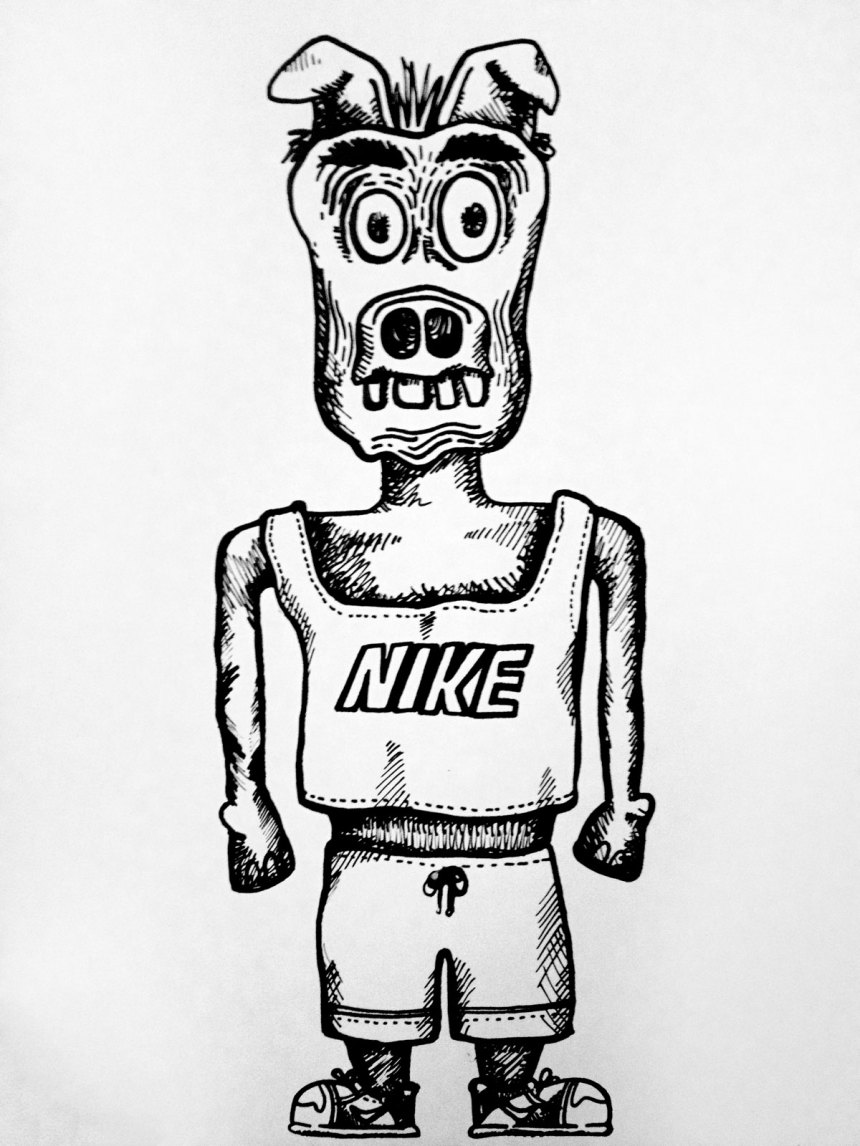 monsters in Nikes