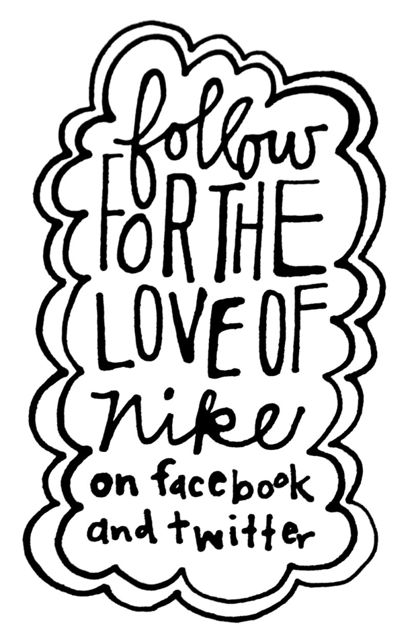 for the love of nike facebook and twitter