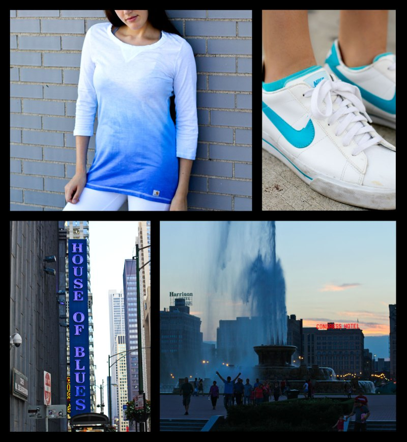 blue and nike