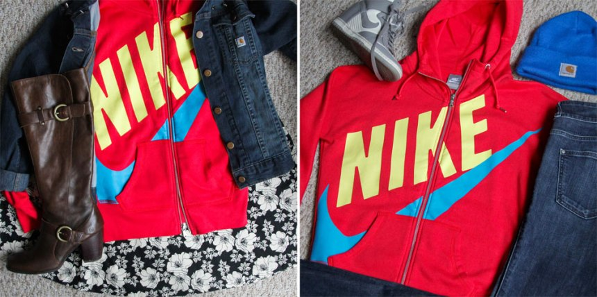 one nike hoodie two ways