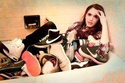 bathing in NIkes
