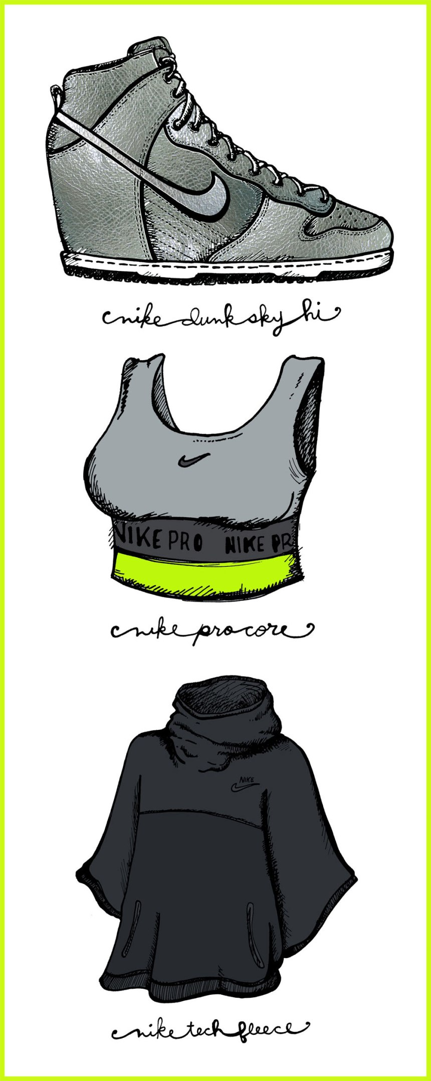 Nike illustration - for the love of nike