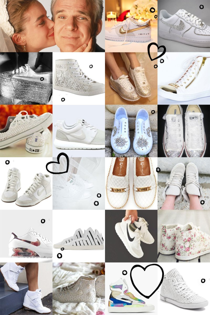 the hunt for the perfect wedding sneakers