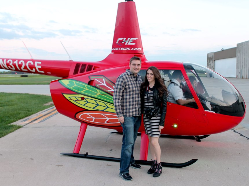 CHicago Helicopter Ride and Sky Hi Sneakers