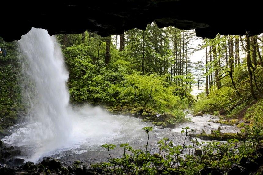 Portland-- chasing waterfalls in Nike