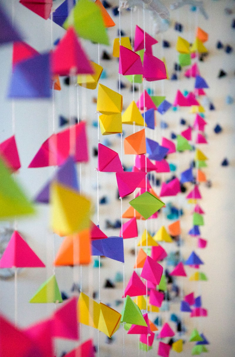 Custom Neon Origami Hanging / Mondo Village of Greatness / for the love of nike