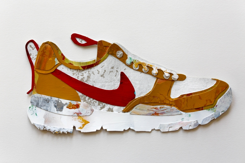 Tom Sachs: Mars Yard Shoes / artwork by Jennifer Martinez Conway / for the love of nike