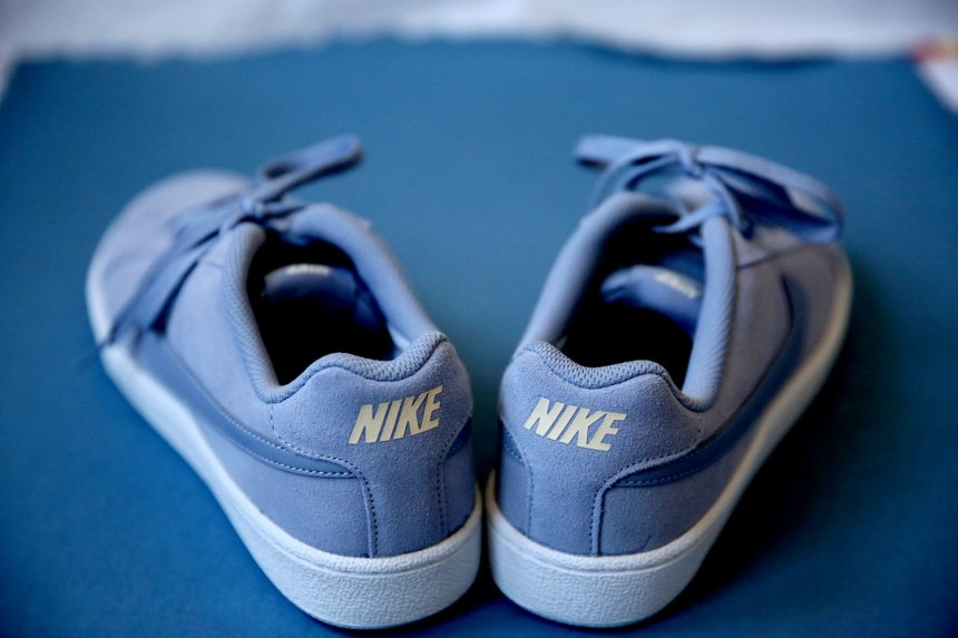 sneakers or so blue and suede / for the love of nike