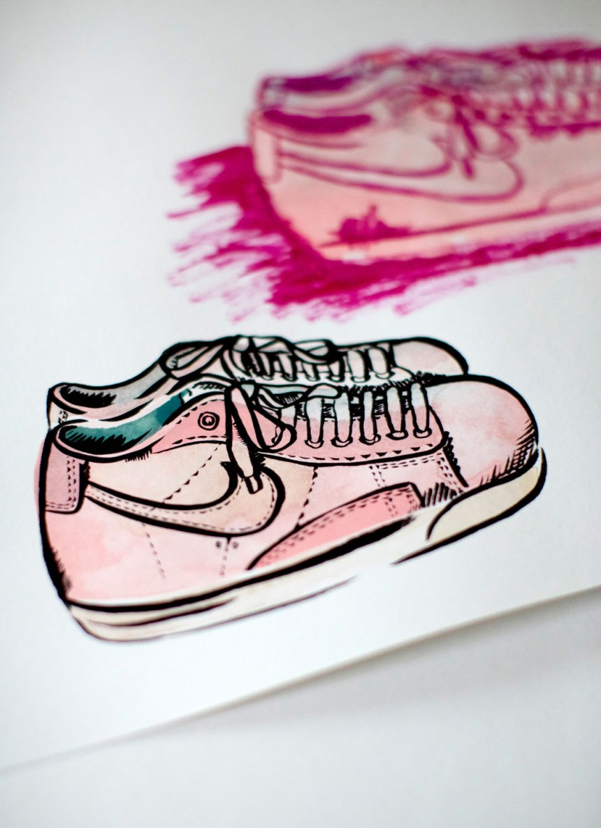 Artwork by Jennifer Martinez Conway / for the love of nike